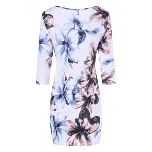 Floral Print Bodycon Mini Dress -