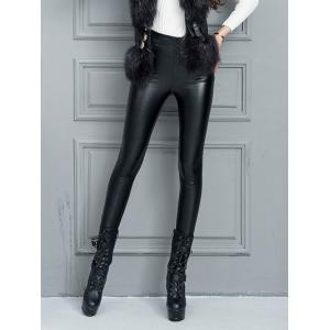 Faux Leather High Waisted Skinny Pants -