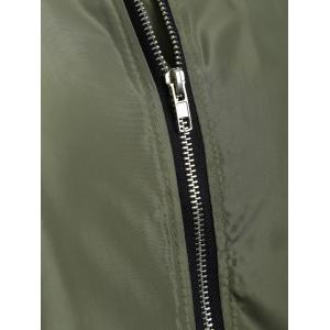 Badge Conception Zip Up Bomber Jacket - Vert Armée 3XL