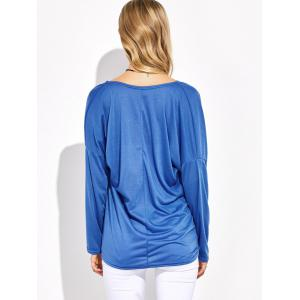Asymmetrical Dolman Sleeve Criss Cross Tee -