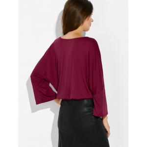 V Neck Dolman Sleeve Wrap Tee -