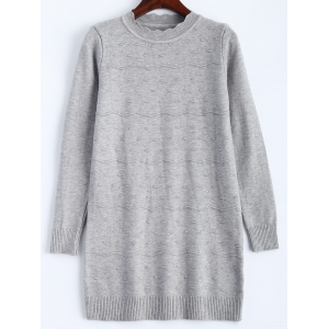 Wave Striped Knitted Long Sweater