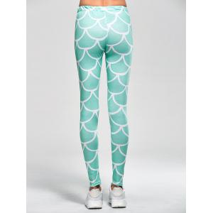 Fish Scale Print Mermaid Leggings -