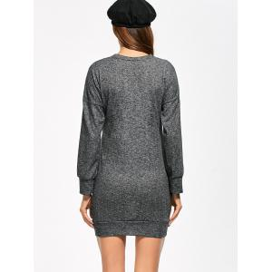 Cutout Mini Long Sleeve Dress - GRAY XL