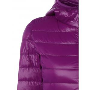 Zip Up Padded Down Jacket with Hood -
