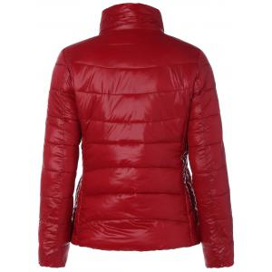 Zip Up Stand Collar Thin Quilted Jacket -