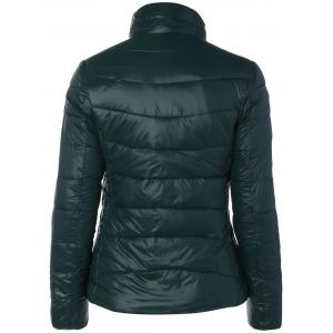 Zip Up Stand Collar Padded Jacket -