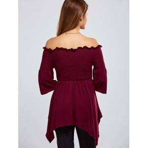 Asymmetric Off The Shoulder Blouse -