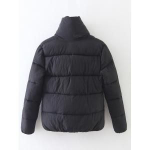Candy Color Zippered Puffer Jacket -