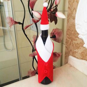 Santa Clothes Design Christmas Wine Bottle Cover Bag