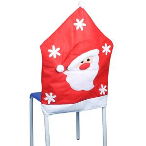 Christmas Supplies Dinner Decoration Santa Pattern Chair Back Cover -