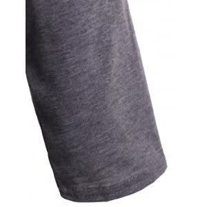 Skew Neck LOVE Print T-Shirt - GRAY XL