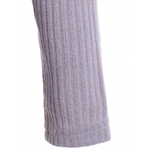 Off The Shoulder Ribbed Jumper - GRAY XL