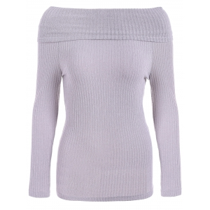 Off The Shoulder Ribbed Jumper