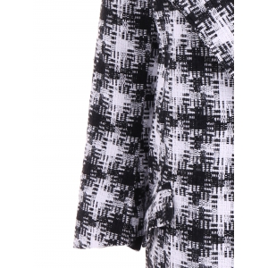 Snap Button Patterned Overcoat -
