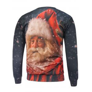 Christmas Santa Claus Printed Sweatshirt - RED L
