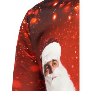 Christmas Santa Claus Printing Sweatshirt - RED M