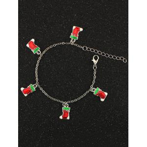Christmas Boots Charm Bracelet - Silver