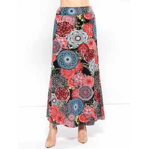 Mid Rise Floral Print Skirt