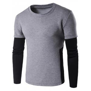 Contrast Panel Crew Neck Sweatshirt