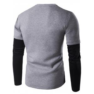 Contrast Panel Crew Neck Sweatshirt -