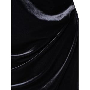 Velvet Sheath Ruched Dress -
