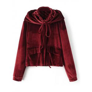 Hooded Velvet Blouse