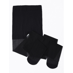 Skinny Sheer Tights - Black - One Size
