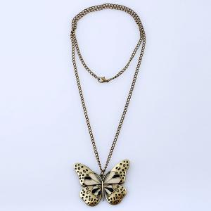 Butterfly Pendant Sweater Chain -
