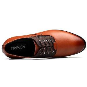 PU Leather Metal Tie Up Formal Shoes -
