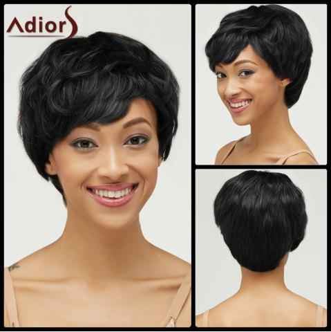 Outfits Fluffy Short Haircut Capless Curly Pixie Cut Synthetic Wig BLACK