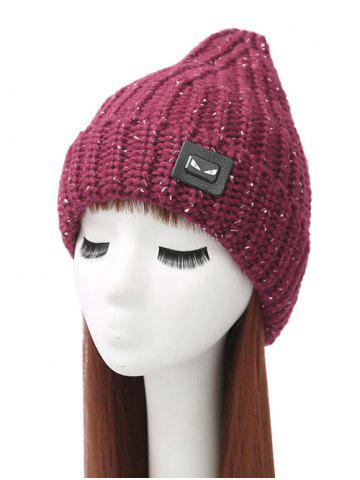 Shops Demon Label Flanging Knitted Hat WINE RED