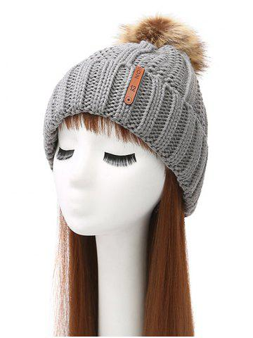 Outfit Pom Ball Striped Knitted Beanie