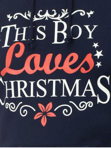 New Long Sleeve Christmas Graphic Hoodie - M CADETBLUE Mobile