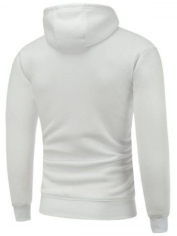 Sale Hooded Long Sleeve Christmas Graphic Hoodie - L WHITE Mobile
