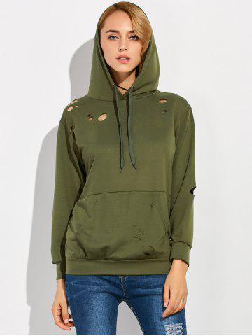 Buy Pocket Hole Ripped Hoodie
