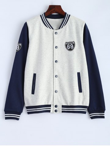 Hot Embroidered Baseball Jacket with Pockets