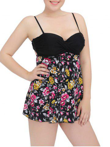 Fashion Cami Cut Out Floral Underwire Padded Tankini Set