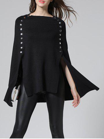 Buy Slit Poncho Sweater