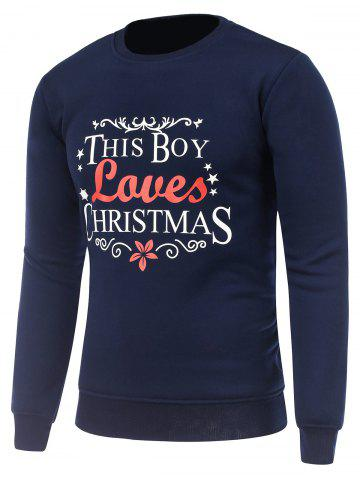 Sale Crew Neck Long Sleeve Christmas Graphic Sweatshirt