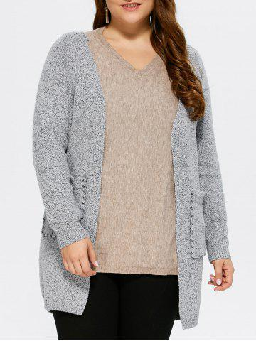 Hot Open Front Lace Up Cardigan