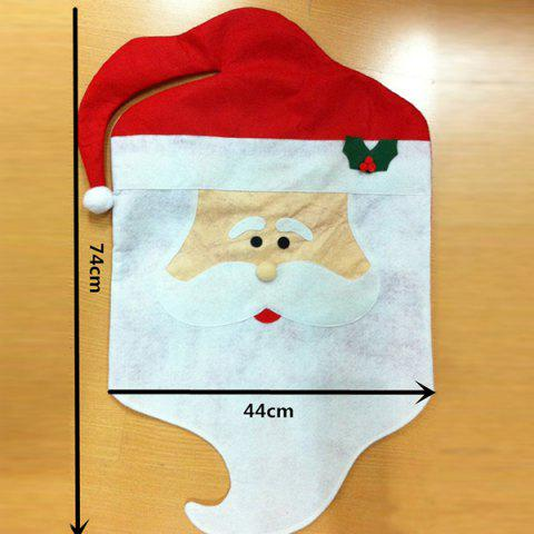 Cheap Dinner Table Decor Christmas Supplies Mr Santa Chair Back Cover - RED WITH WHITE  Mobile