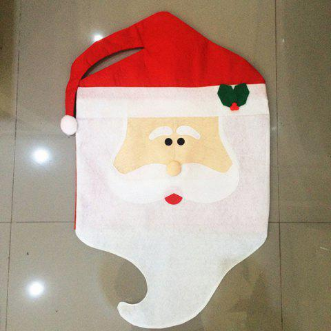 Fashion Dinner Table Decor Christmas Supplies Mr Santa Chair Back Cover - RED WITH WHITE  Mobile