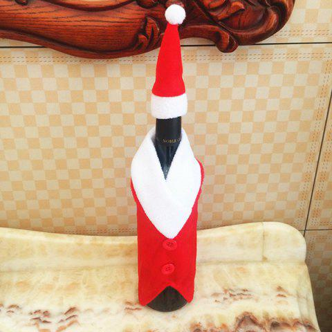 Cheap Santa Clothes Design Christmas Wine Bottle Cover Bag - RED WITH WHITE  Mobile