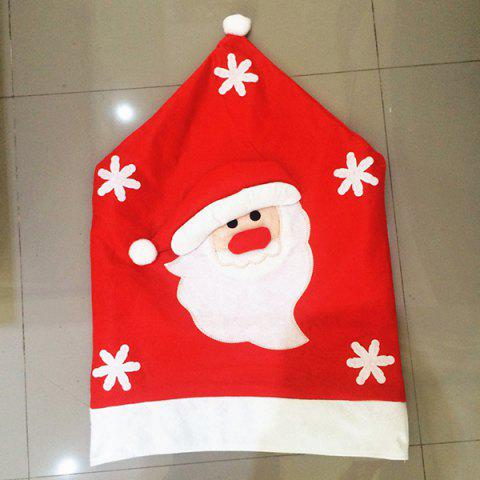 Trendy Christmas Supplies Dinner Decoration Santa Pattern Chair Back Cover - RED  Mobile