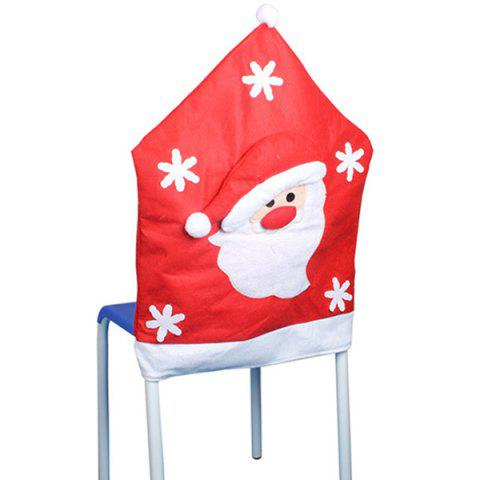 Shop Christmas Supplies Dinner Decoration Santa Pattern Chair Back Cover - RED  Mobile