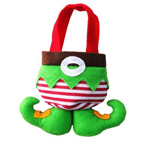Shop New Year Christmas Present Candy Bag - RED AND GREEN  Mobile