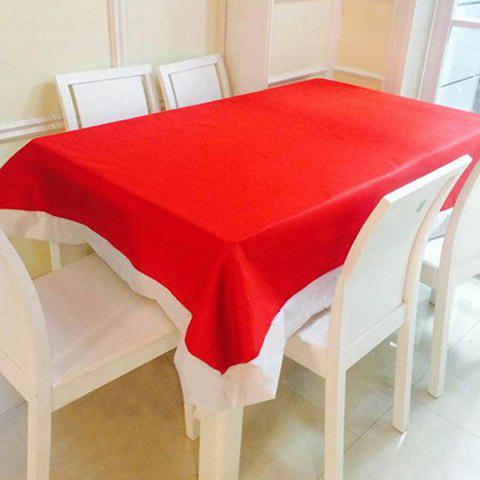 Nappe de Noël de décor de table à dîner 132 * 208cm Rouge