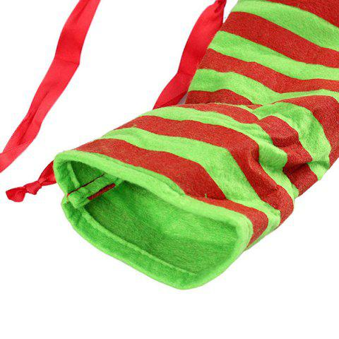 Outfits Merry Christmas Gift Sock Candy Bag - RED AND GREEN  Mobile