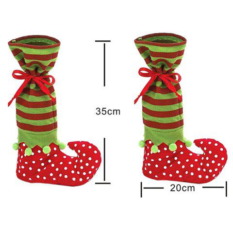New Merry Christmas Gift Sock Candy Bag - RED AND GREEN  Mobile